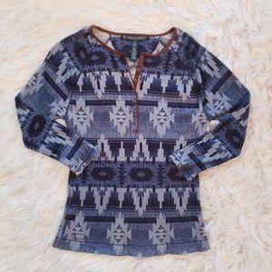 Ralph Lauren Southwestern Thermal Knit Henley